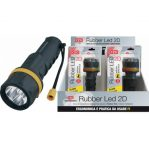 RUBBER LED 2D Torcia LED rivestita in gomma morbida antiurto - CFG EL022