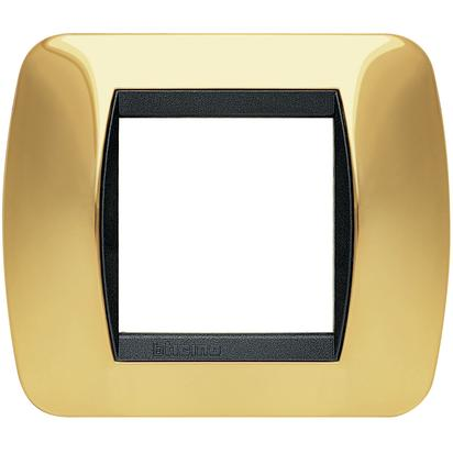 LIVING INT - PLACCA 2 POSTI ORO VERO - BTI L4802OR