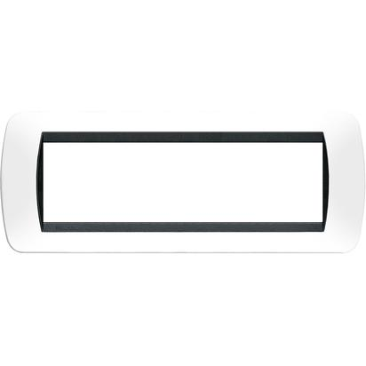 LIVING INT.- PLACCA 7P PLASTICA BIANCO SCURO - BTI L4807PB