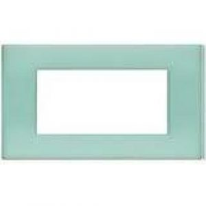 BTI N4804VP - LIGHT PLACCA 4 POSTI VERDE OPALINO - BTI N4804VP