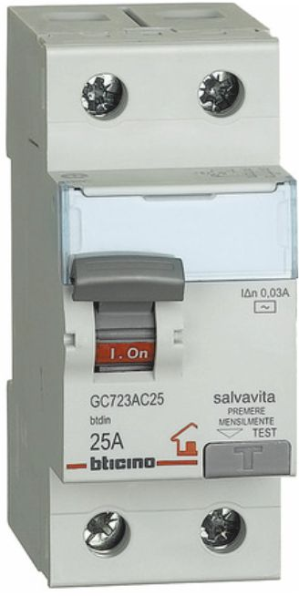 BTI GC723AC25 - Interruttore differenziale SALVAVITA 2P - BTI GC723AC25