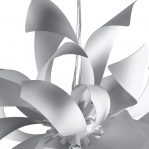SOSPENSIONE BLOOM BIANCO-SILVER 6XG9 - FAN EUROPE I-BLOOM-S6 BCO