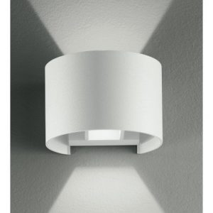Applique bianca con luce led dalla forma tonda 6 watt 3000 k - FAN EUROPE LED-W-DELTA/6W BCO