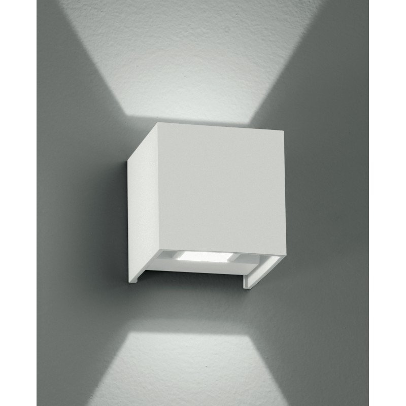 Fan Europe Applique LED cubica Integrata, 2 W, Bianco, 8x8 - FAN EUROPE LED-W-ALFA/2WBCO
