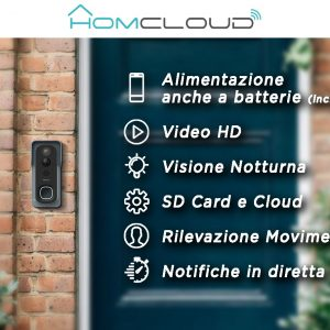 Homcloud Videocitofono/Campanello WiFi 7s – HOMCLOUD TY-DB7S